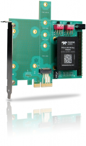 PCI Express Gen3 x2 Slot to M.2 B-Key Adapter with SMBus Support