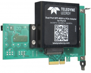 SFF-8639-to-PCIe Adapters with Multi-power Connectors and Test Pad Support