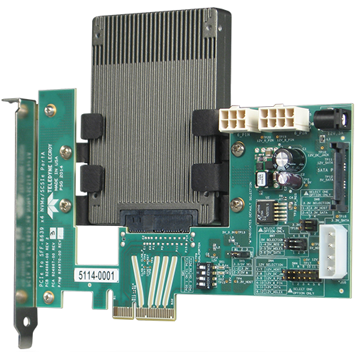 U.2 (SFF-8639) to PCI Express Enhanced Slot Adapter (for NVMe x4 or x2 Port A or SCSI Express x4 or x2)
